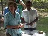 Yeardley Smith with microfinance client