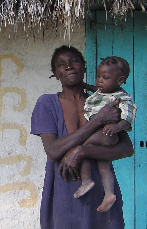 Haitian woman with child