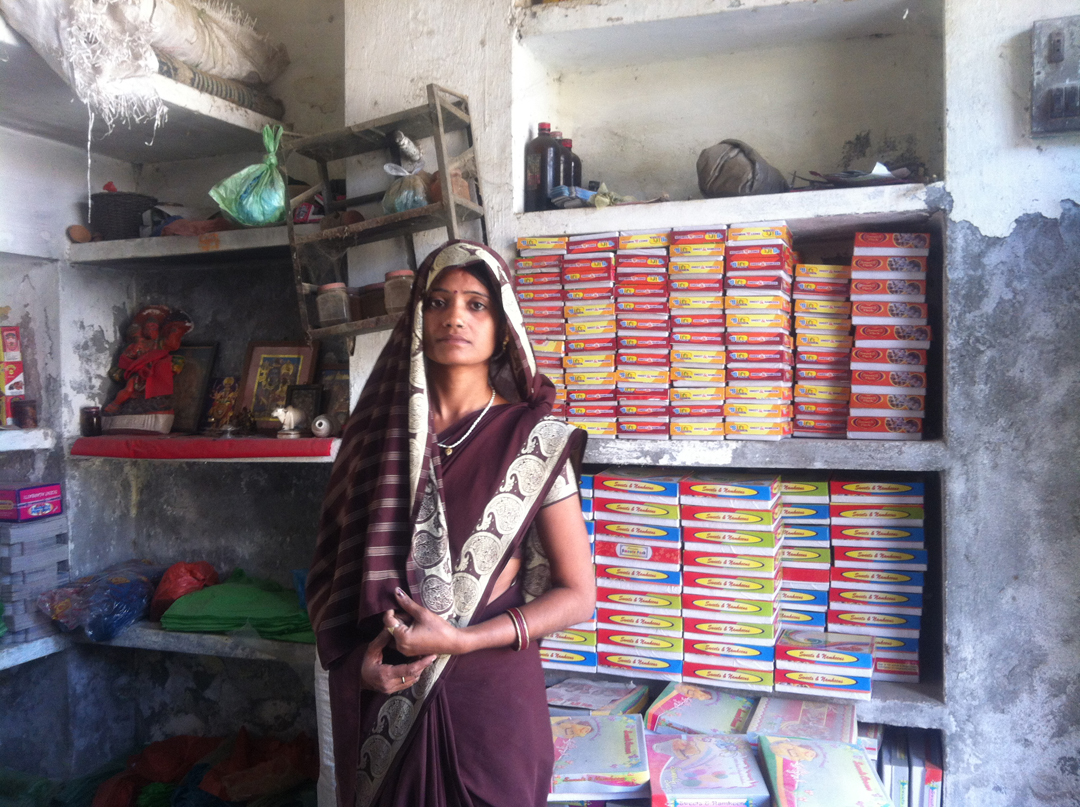 Thanks to Grameen Foundation's Microsavings Initiative and the work of its partners Cashpor (a local microfinance institution) and ICICI Bank, Sangeeta is now able to save a little each week to provide security for her future.