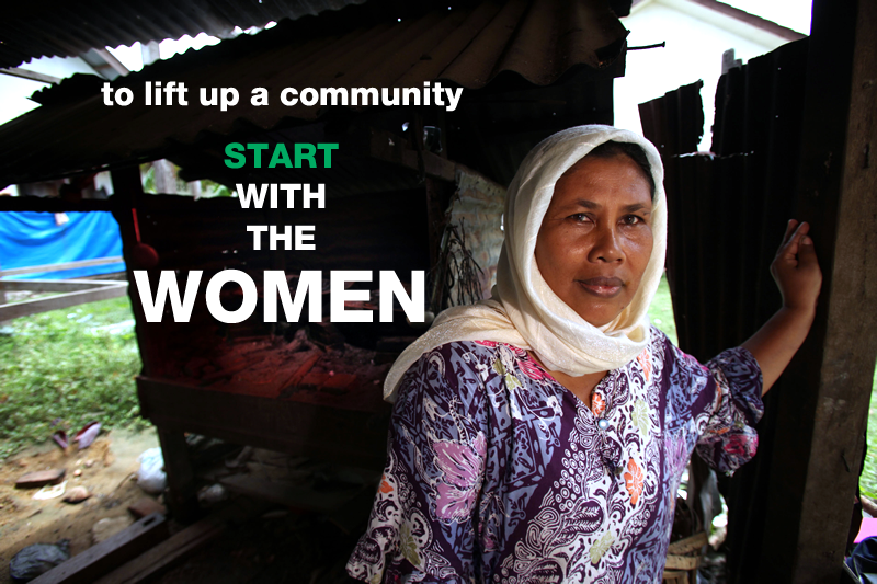 To life up a community, START with the women.