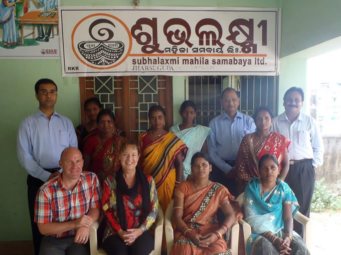 Randy Coutts and his wife, Cathy, helped a women's cooperative in India to develop a business plan for its spice company